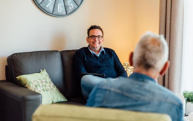 Casemanager Gerben Jansen in gesprek